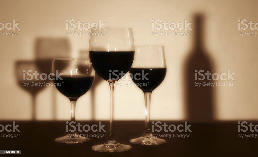 Wine & Shadows royalty-free stock photo