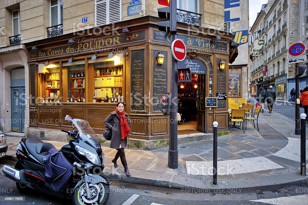 Wine Shop in Paris royalty-free stock photo