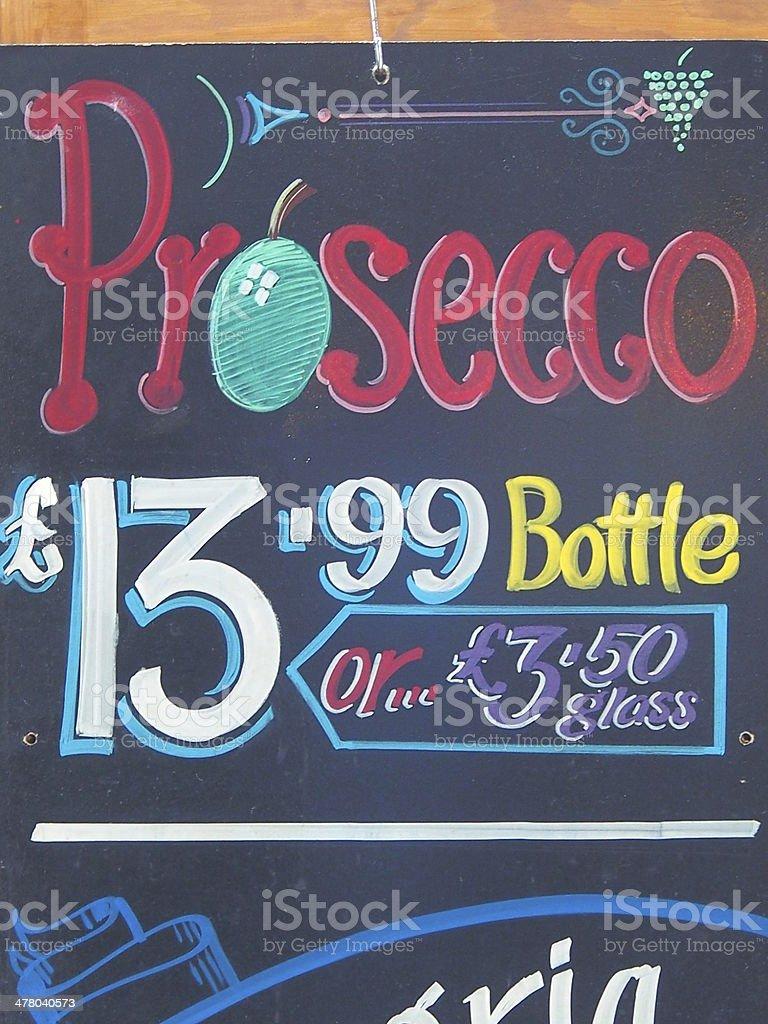 wine shop notice stock photo