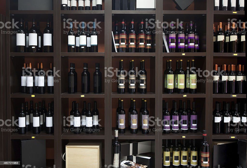 Wine shop. stock photo