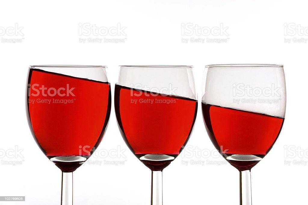 wine slanted royalty-free stock photo