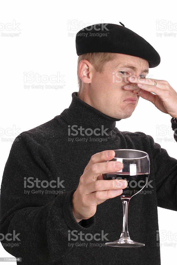 Wine Snob stock photo