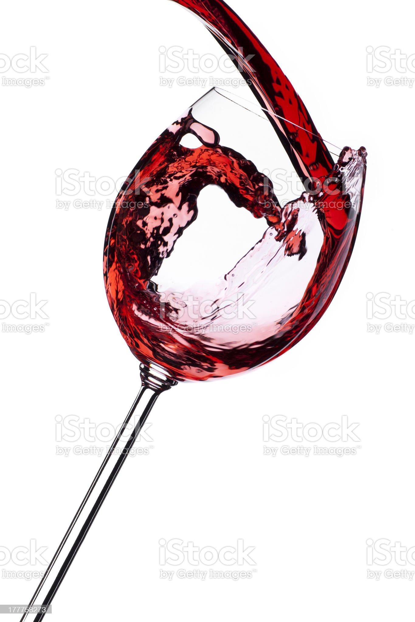 Wine splash isolated on white background royalty-free stock photo