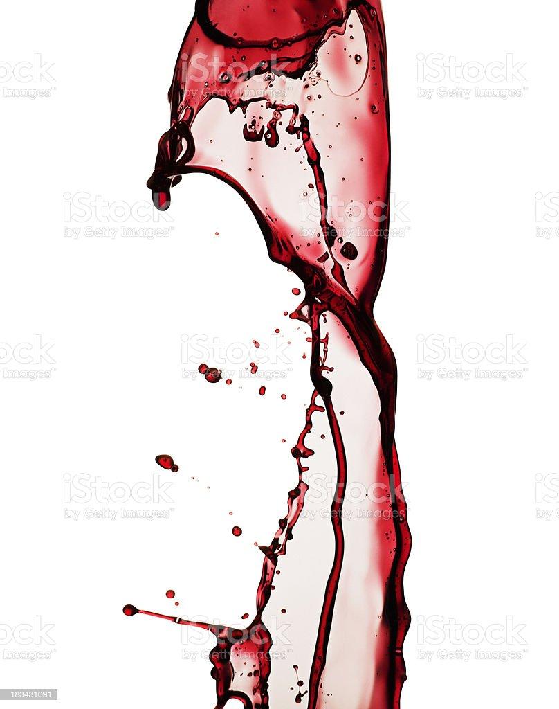 Wine splash isolated on white stock photo