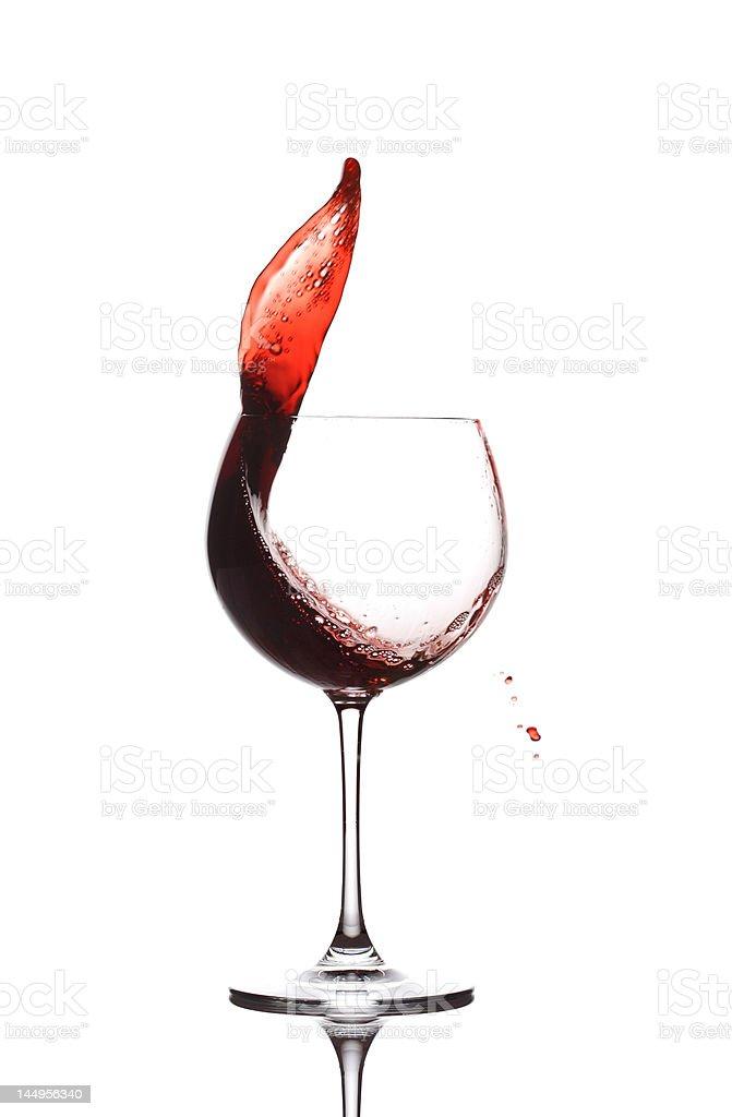 Wine splash royalty-free stock photo