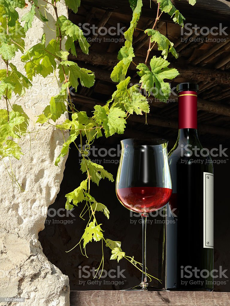 Wine still live royalty-free stock photo