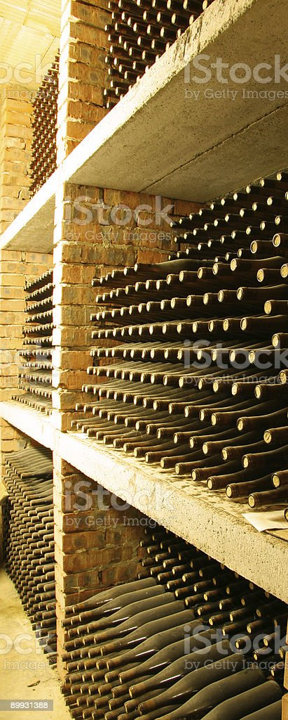 wine storage in cellar royalty-free stock photo