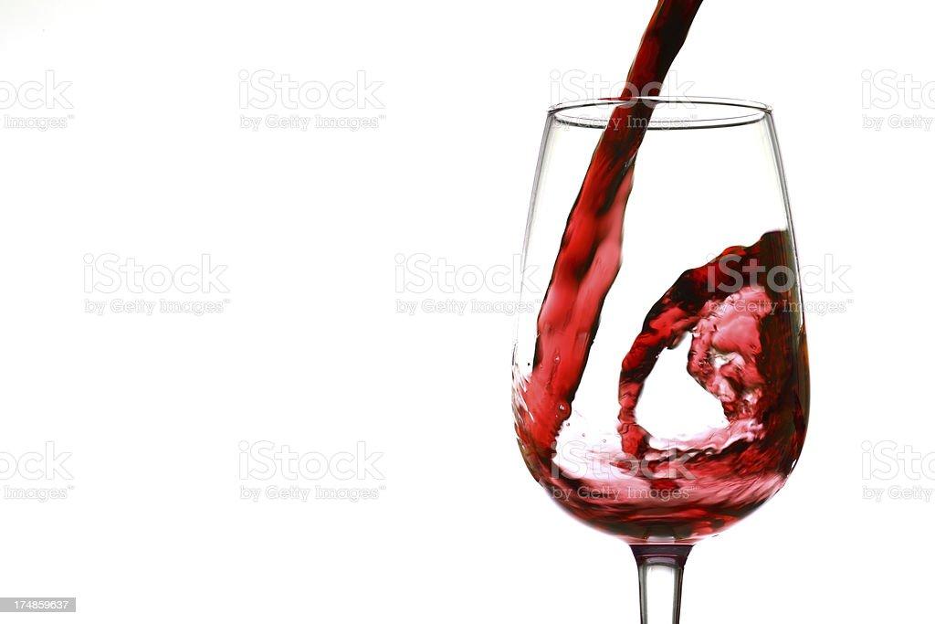 Wine swirl royalty-free stock photo