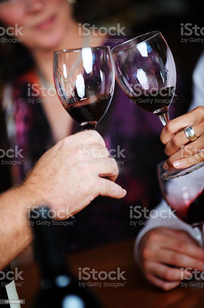 Wine Tasting Cheers royalty-free stock photo