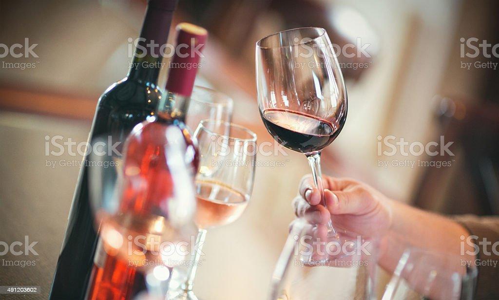 Wine tasting event. stock photo