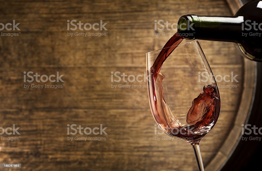 Wine Tasting in Cellar stock photo