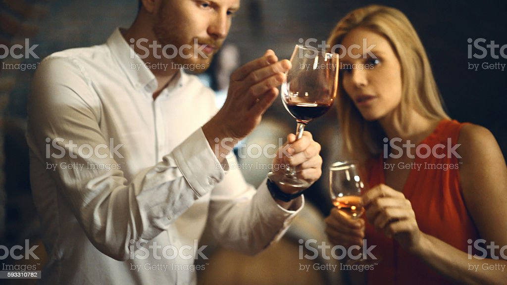 Wine tasting. stock photo