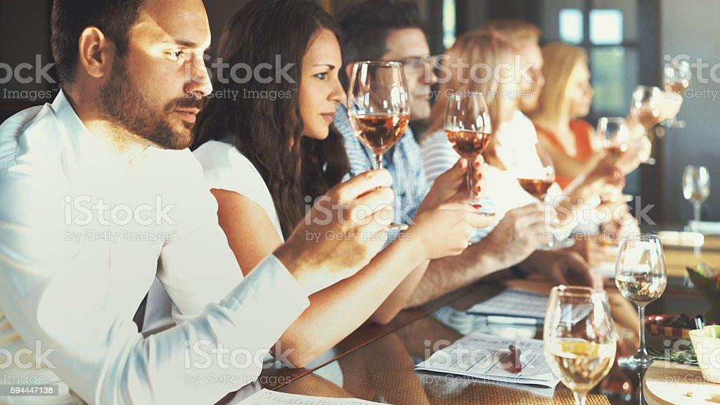 Wine tasting. stock photo