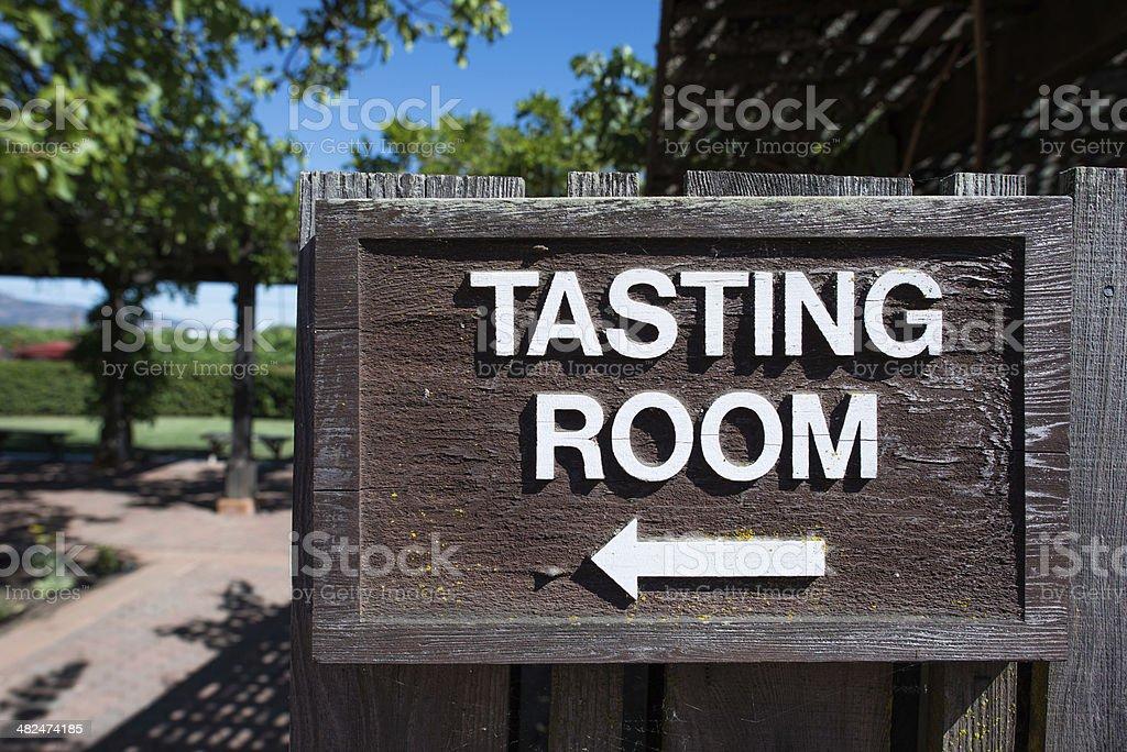 Wine Tasting Room Sign stock photo