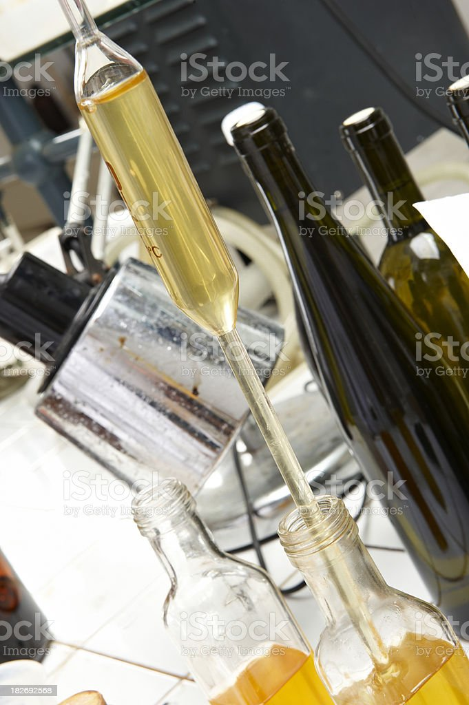 Wine Testing Lab stock photo
