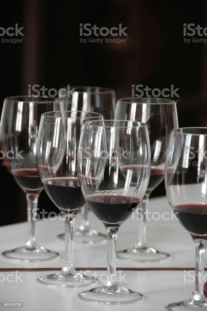 Wine testing stock photo