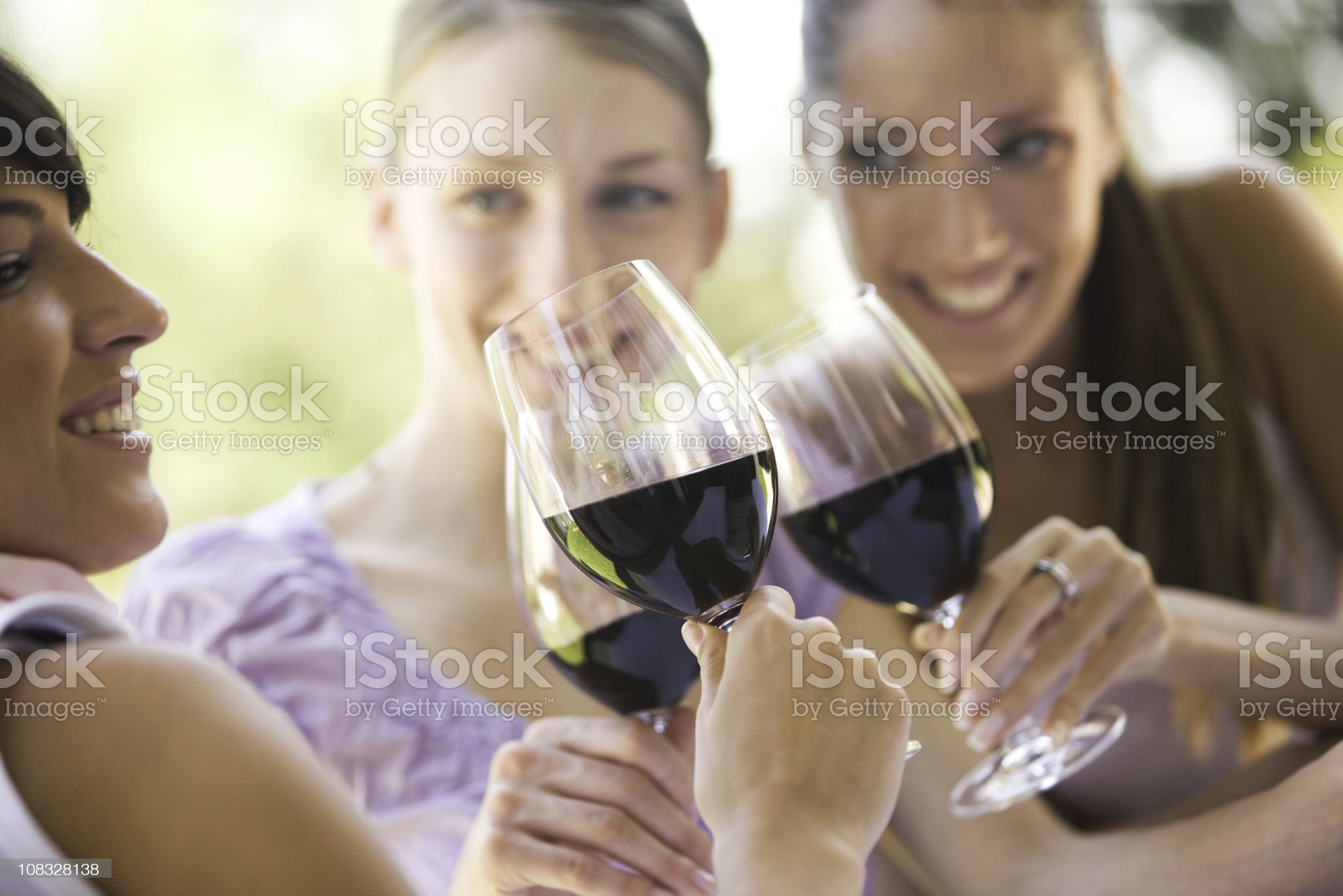 Wine toast royalty-free stock photo