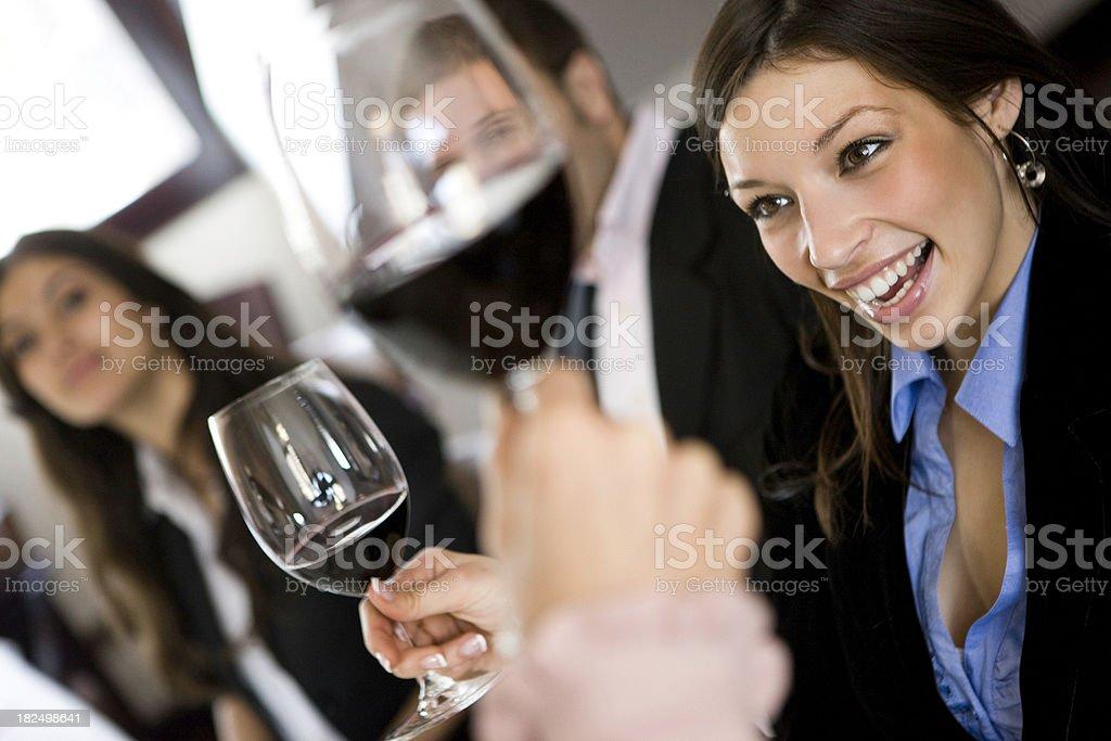 Wine toast stock photo