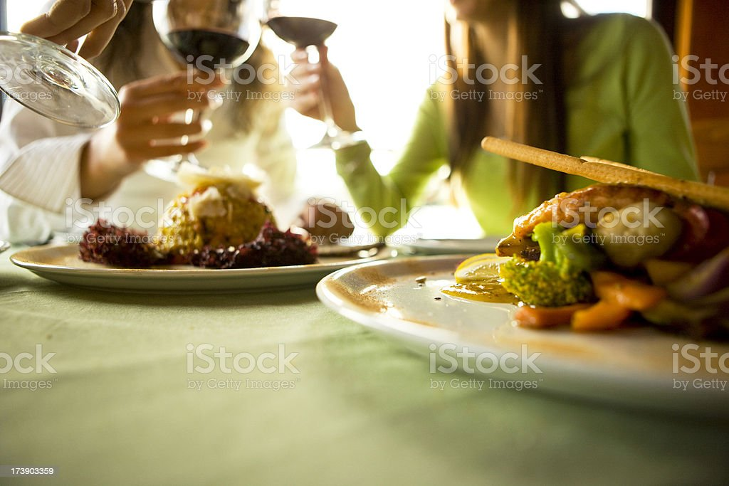 Wine toasting royalty-free stock photo