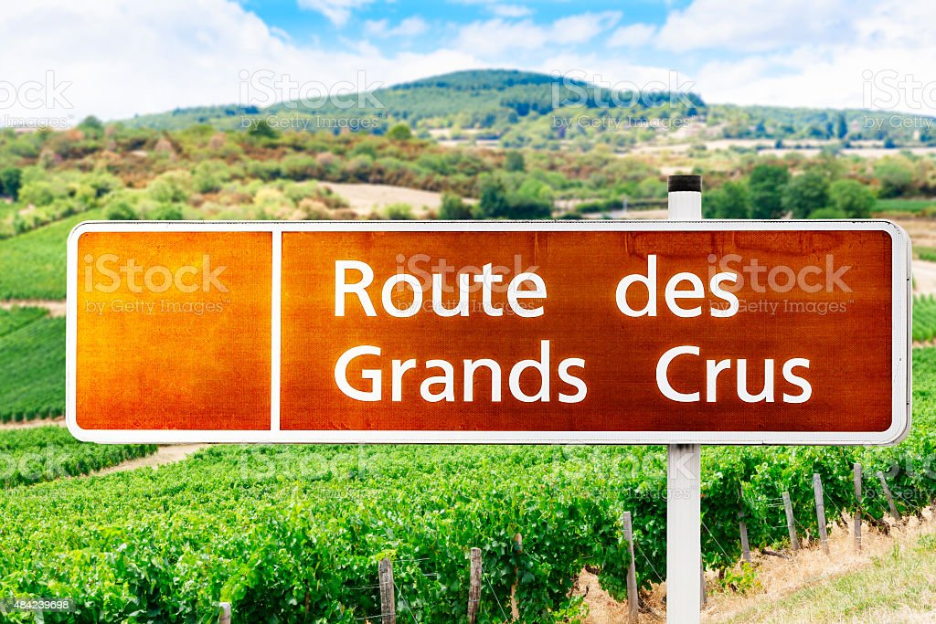 Wine Tour sign in France stock photo