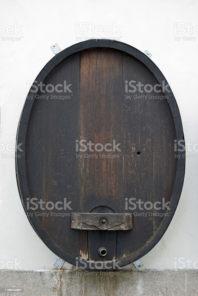 Wine Vat With Copy royalty-free stock photo