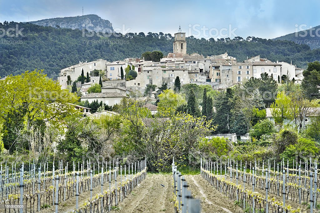 Wine village in Provence, France stock photo