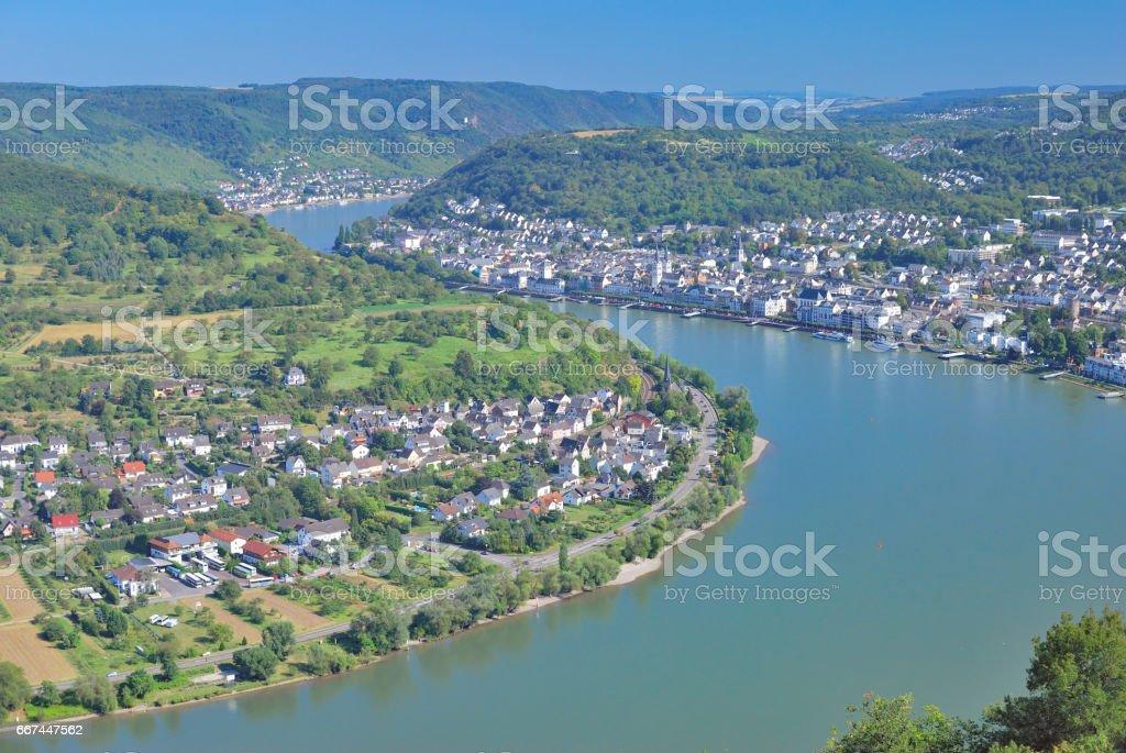 Wine Village of Boppard,Rhine River,Germany stock photo