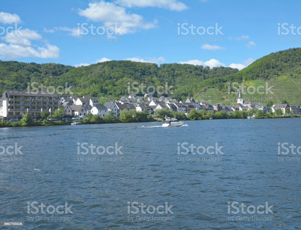 Wine Village of Loef,Mosel Valley,Mosel River,Germany stock photo