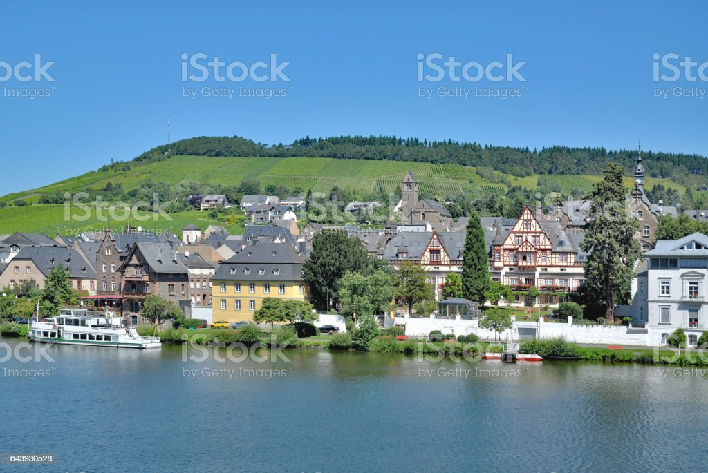 Wine Village,Traben-Trarbach,Mosel Valley,Germany stock photo
