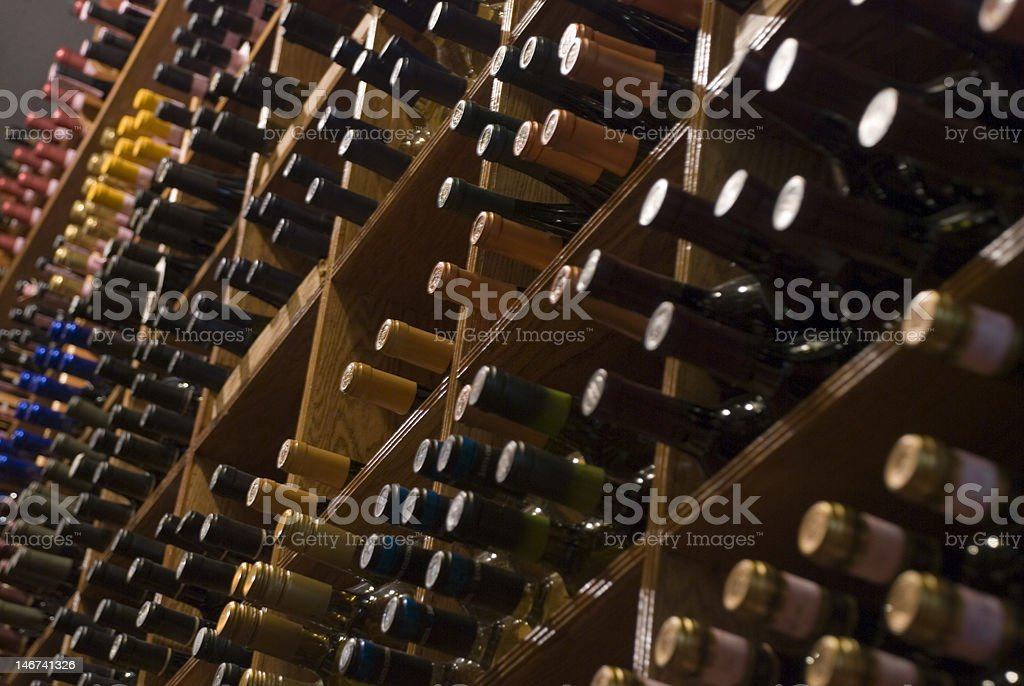 Wine wall royalty-free stock photo