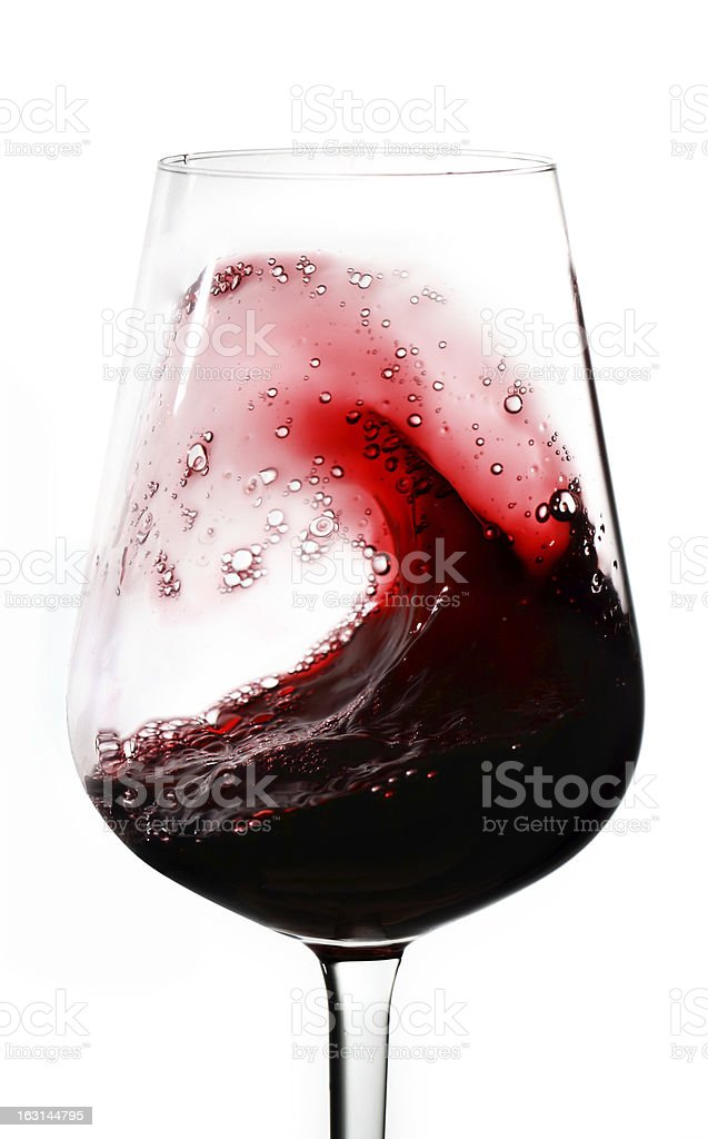 Wine waves stock photo
