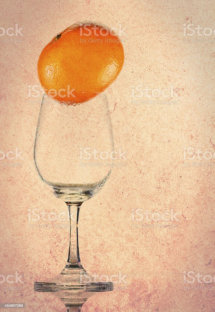 wine with oranges royalty-free stock photo