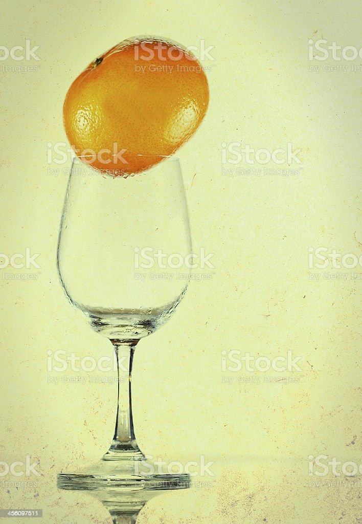 wine with oranges royalty-free stock photo