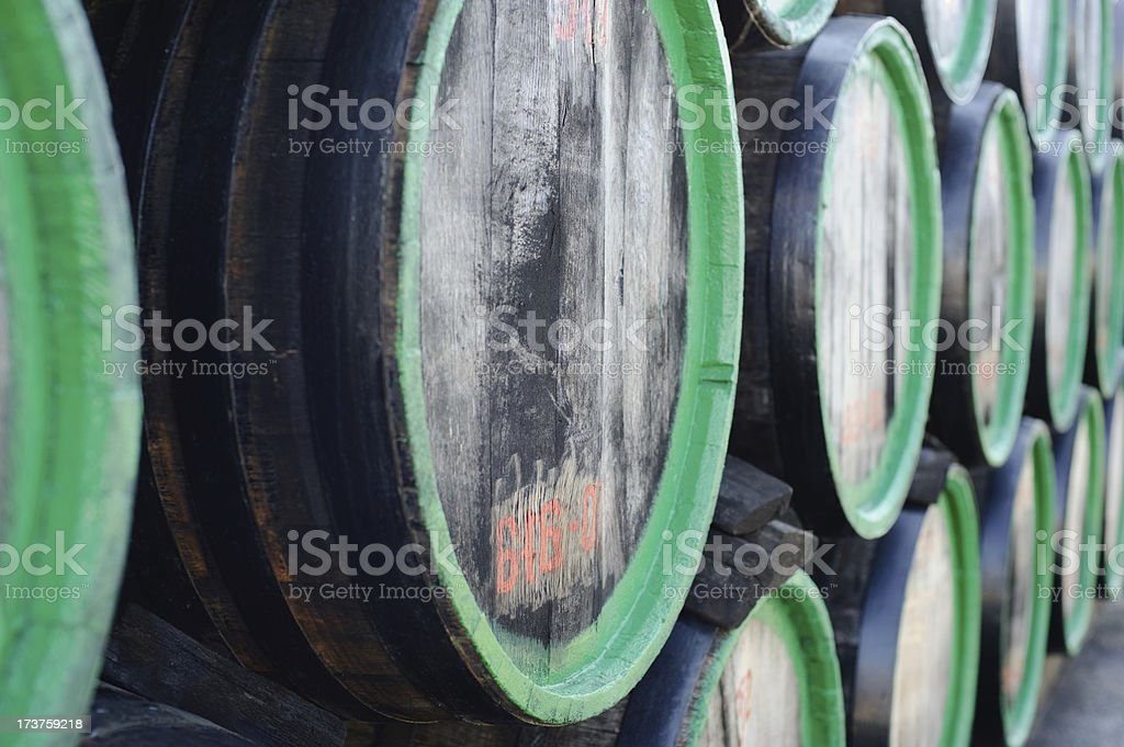 wine wooden barrels royalty-free stock photo