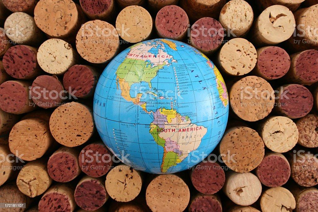 Wine world: The Americas royalty-free stock photo