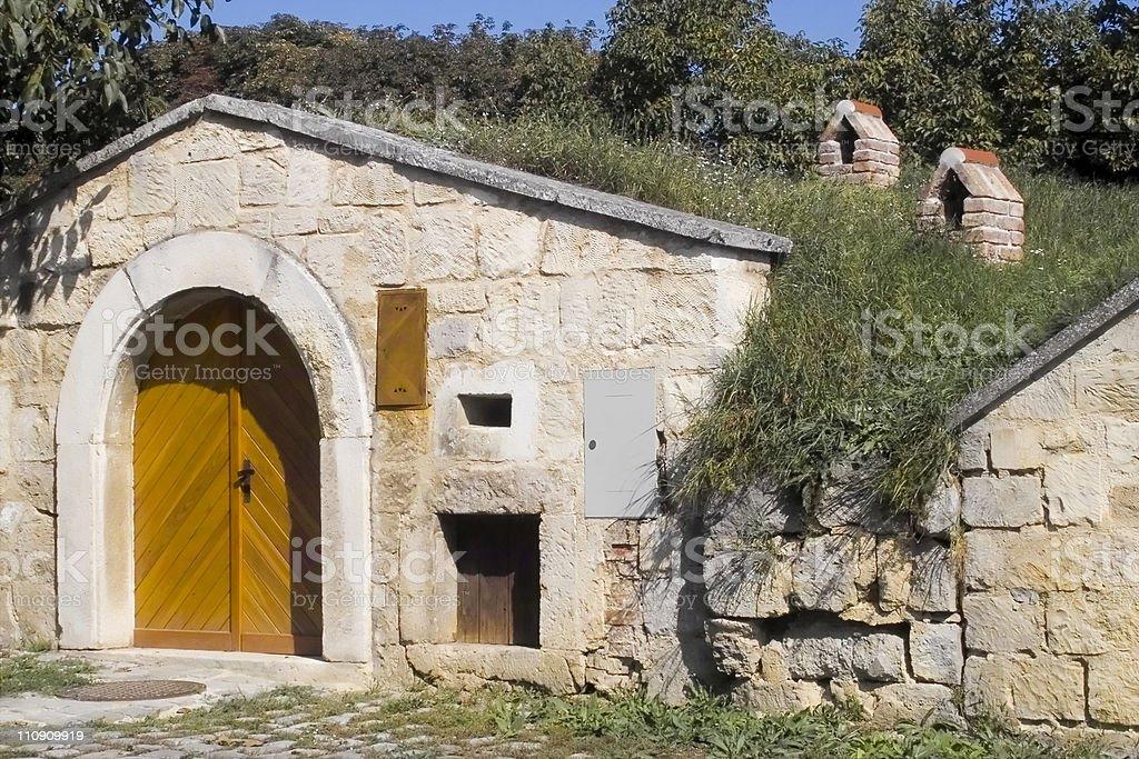 Wine-Cellar in Austria royalty-free stock photo
