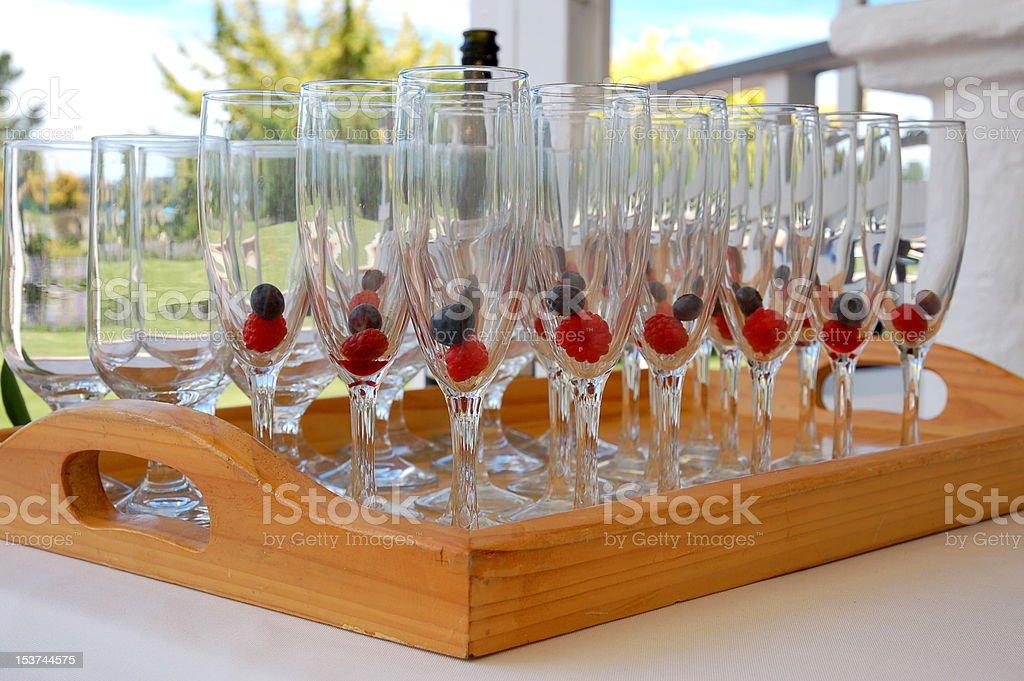Wineflutes foto de stock libre de derechos