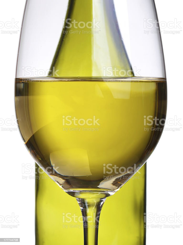Wineglass and bottle royalty-free stock photo