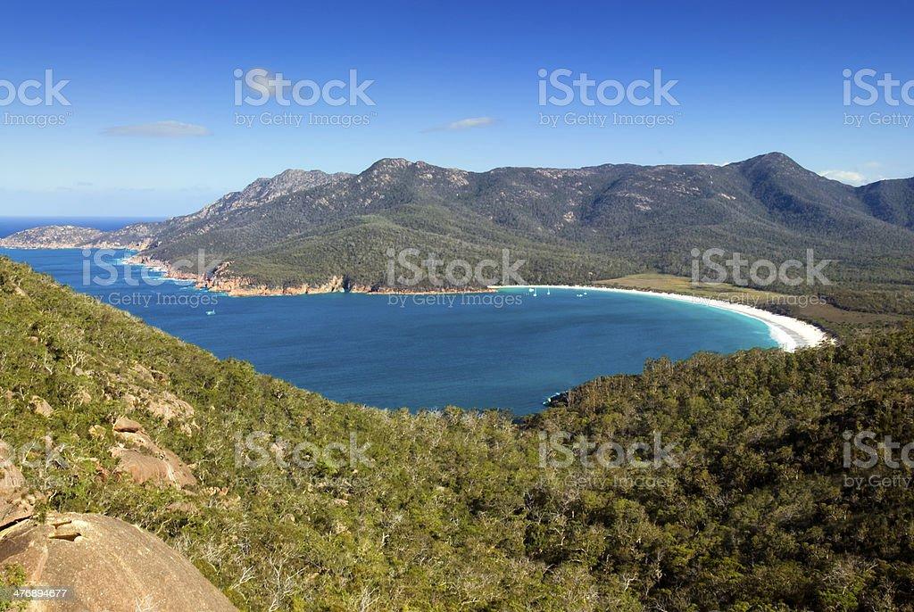 Wineglass Bay, Freycinet National Park, Tasmania, Australia stock photo