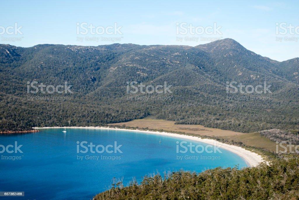 Wineglass Bay, Freycinet, Tasmania stock photo