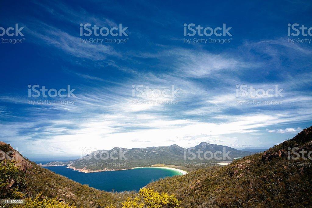 Wineglass Bay, Tasmania, Australia stock photo