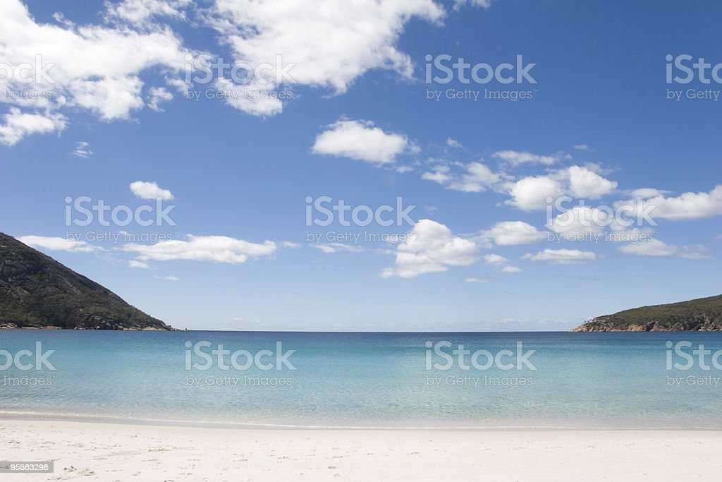 Wineglass Bay, Tasmania, Australia stock photo