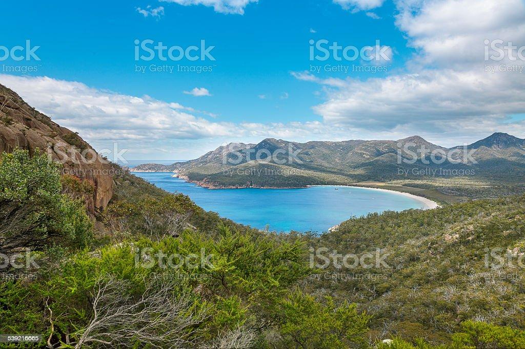 Wineglass Bay, Tasmania stock photo