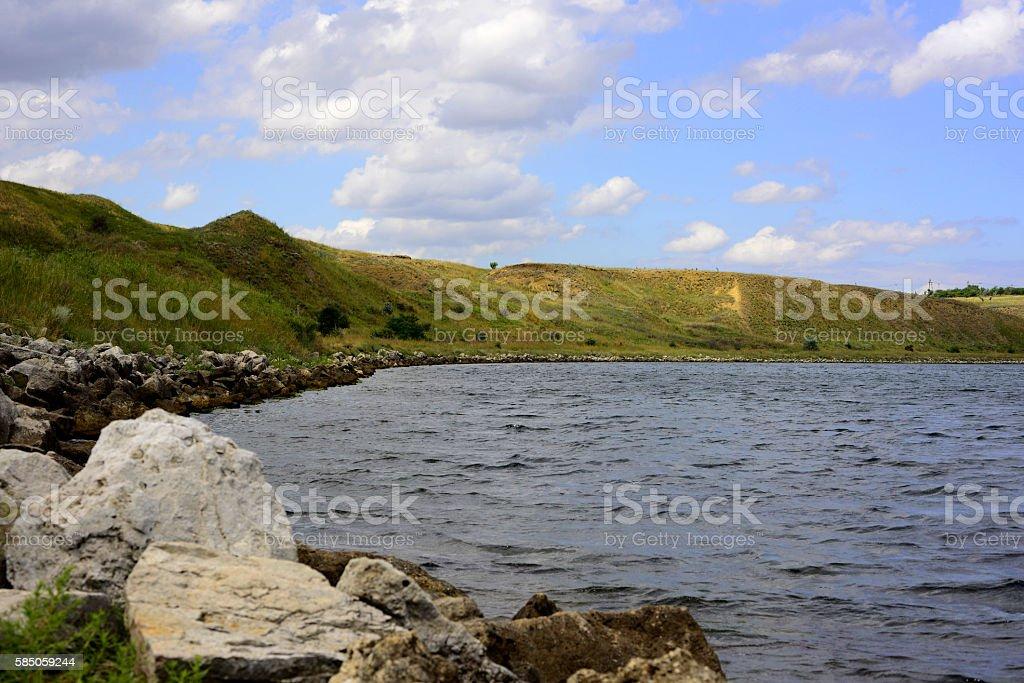 Wineglass Bay: The beautiful beach stock photo