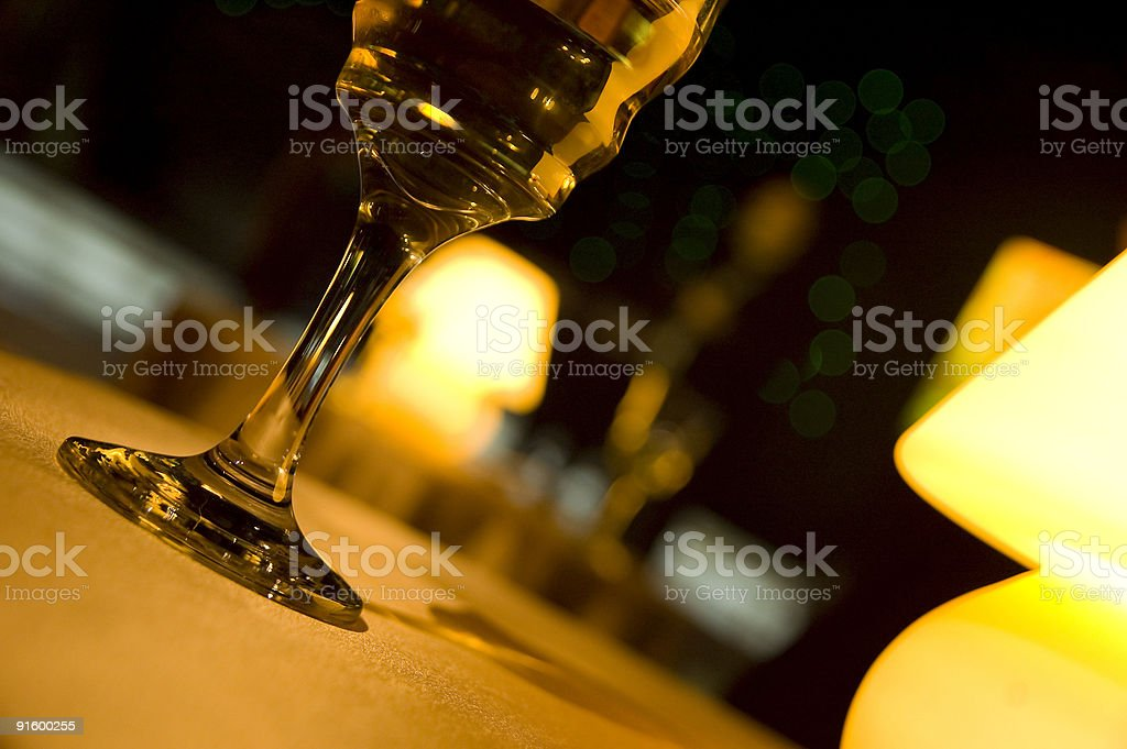 Wineglass in restaurant royalty-free stock photo