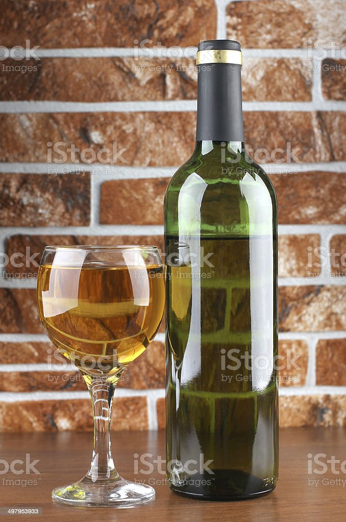 Wineglass on stone background stock photo
