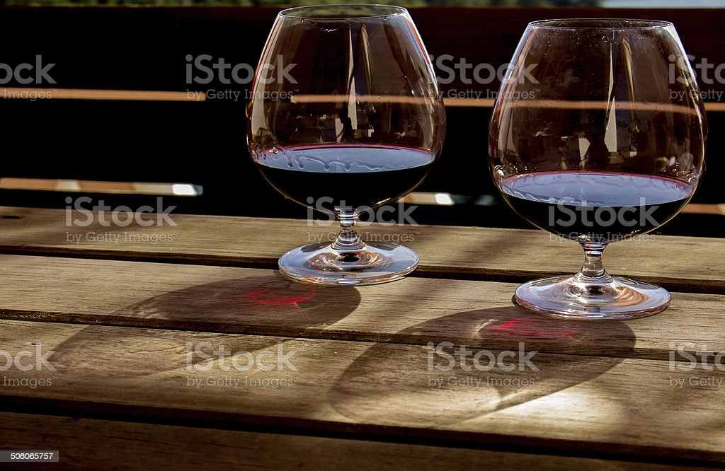 Wineglass. stock photo