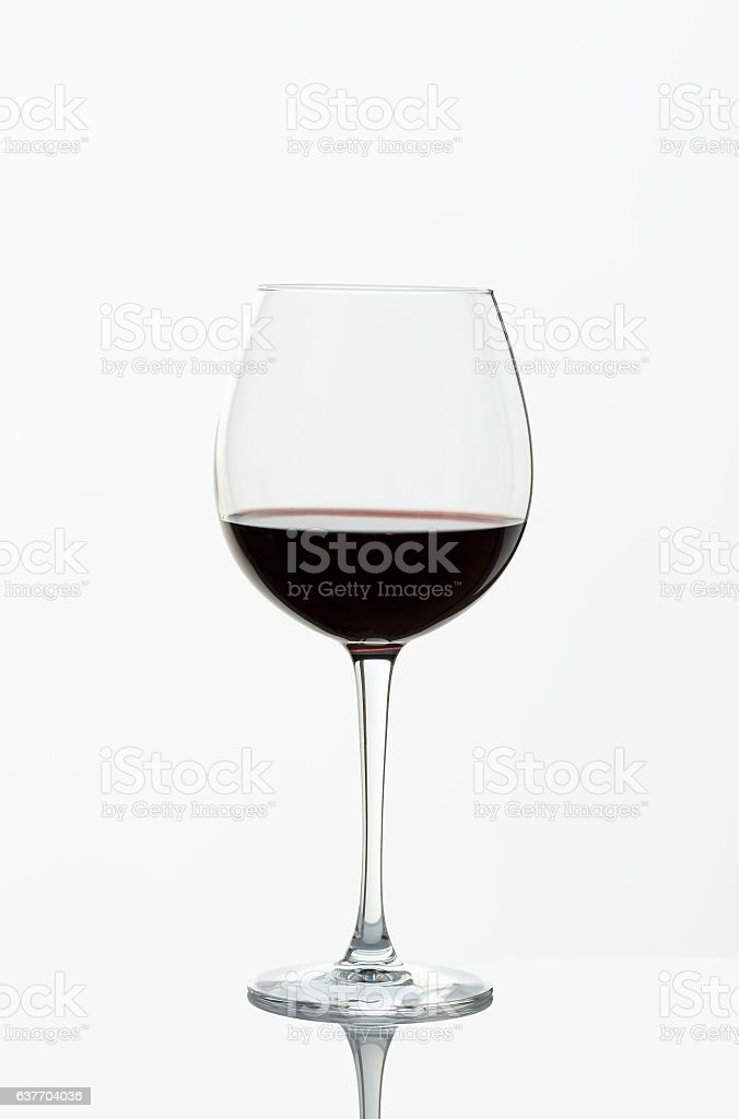 Wineglass, red wine from Rioja stock photo