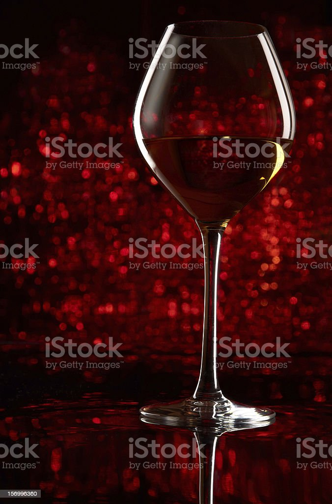 Wineglass with bokeh royalty-free stock photo