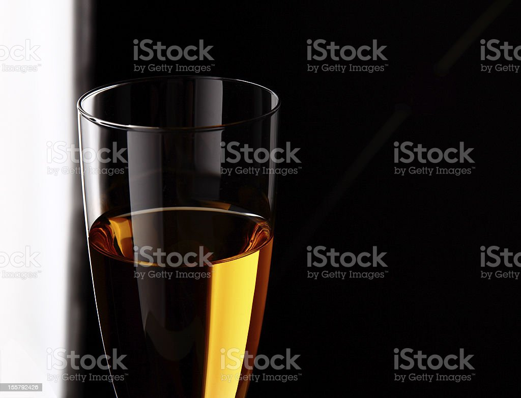 wineglass with white wine royalty-free stock photo